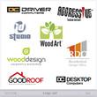 Set of vector icons and symbols, logo set mix