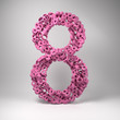 The number eight made out of small number eights