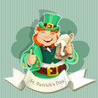 Cute fat Leprechaun . Poster St. Patrick's Day