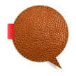 Leather texture background on retro style speech bubbles
