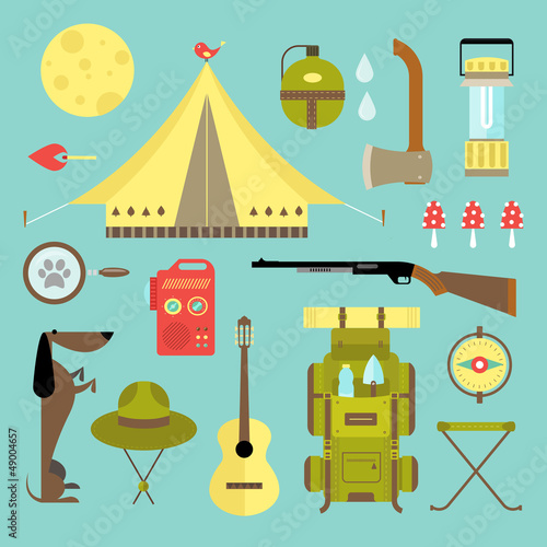 Vector camping icons