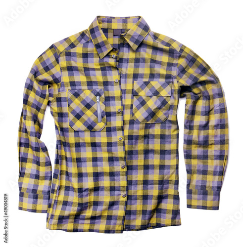 plaid shirt isolated on white