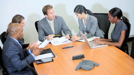 Multi Ethnic Business Team Meeting