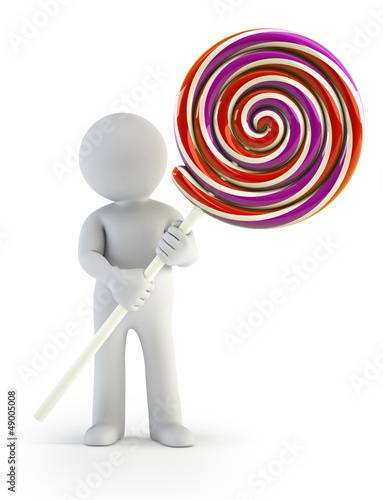 3d small people - lollipop