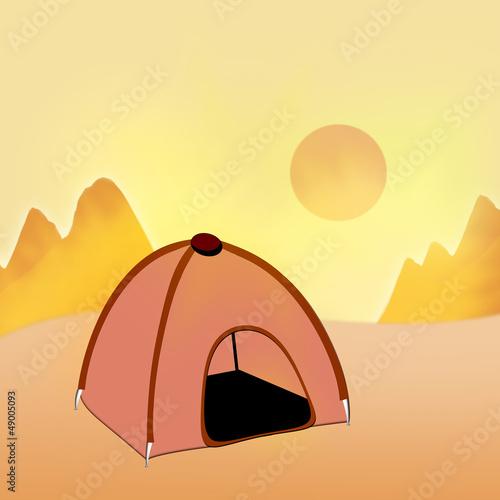 Tent. journey