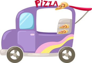 Italian pizza delivery car