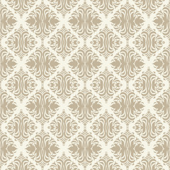 Seamless beige background from a floral ornament