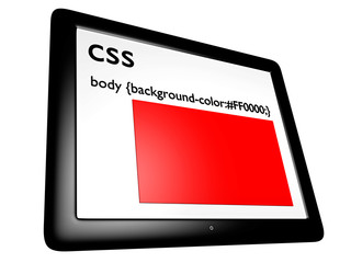 CSS background-color red on tablet pc - 3D