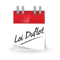 calendrier : loi Duflot