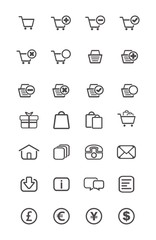 outline icon - ecommerce
