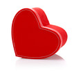 Red heart-shaped present box