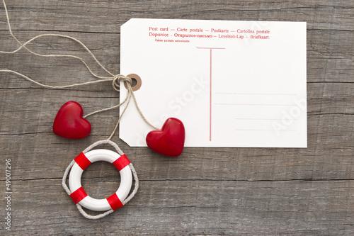 Hafen der Ehe - Hochzeitskarte oder Valentinstag - Herzen