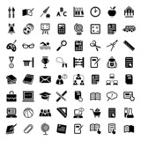 big school icon set