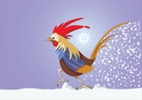 Year of the rooster. 12 Zodiac Animals