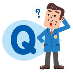 Q&A 質問する男性