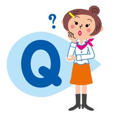 Q&A 質問する女性