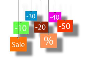 Preisermäßigungen im Schlussverkauf