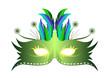 Masque plume Rio - Vert - Carnaval