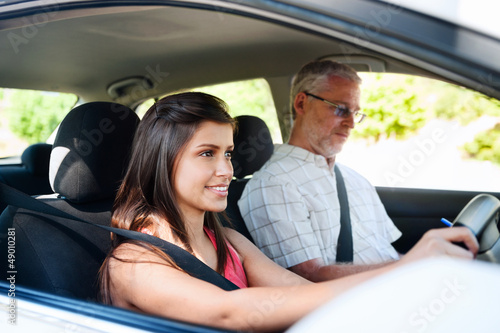 confident learner driver - 49010281