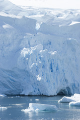 The ice sheet of Antarctica.