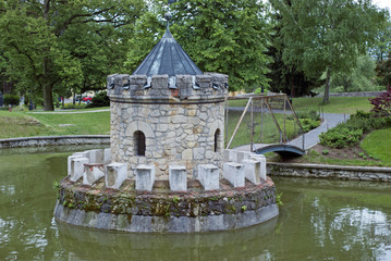 Small tower in the lake