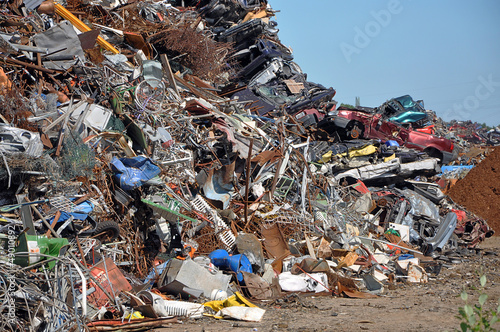 Scrap heap - Scrap Metal ready for recycling