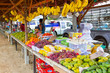 Fruits stand on the local market in Khao Lak, Thailand