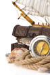 ship rope and compass