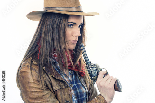 attractive cowgirl