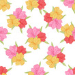 Abstract elegance seamless flower pattern with orchid.