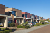 Fototapety modern town houses