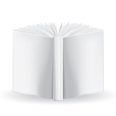 White book for your own design isolated on white background. Mes