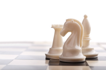 chess pieces isolated