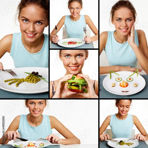 Young vegetarian