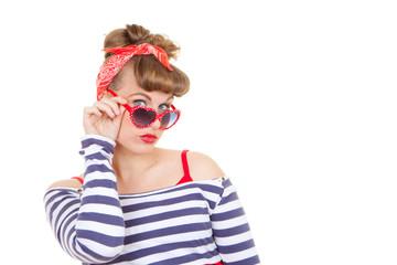 retro pinup with sunglasses