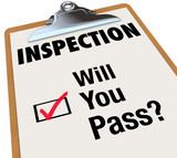 Inspection Checklist Clipboard Will You Pass Words