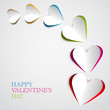 Valentine Hearts Colorful vector card