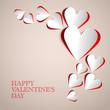 Retro Valentine Hearts Card