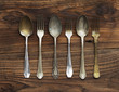 Old forks and spoons