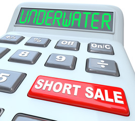 Underwater Short Sale Words on Calculator