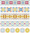 Snowflake knitting borders
