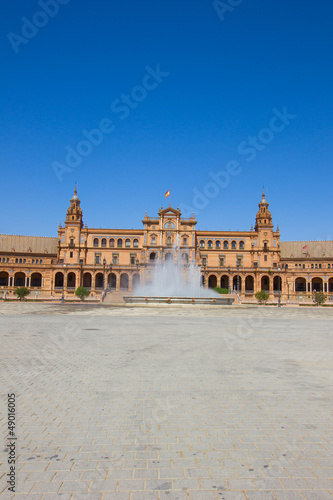 fountain of Plaza de Espana, Seville, Spain