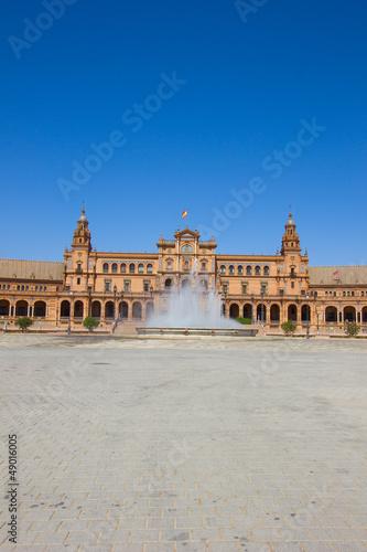 fountain of Plaza de Espana, Seville, Spain