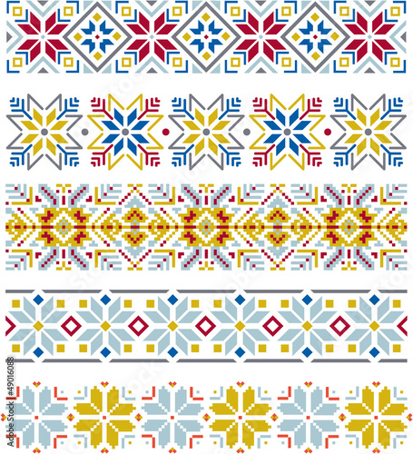 Snowflake knitting borders - 49016088