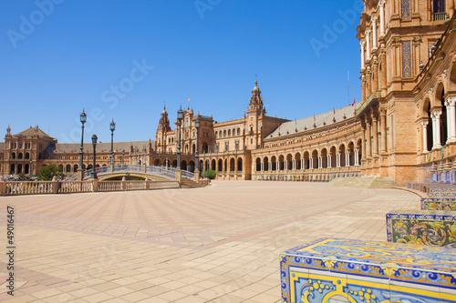 Plaza de Espana, in Seville, Spain