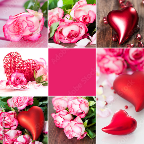 Valentinstag - Collage