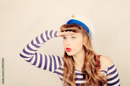 pin up sailor woman