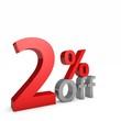2 Percent off