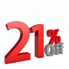 21 Percent off
