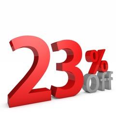 23 Percent off